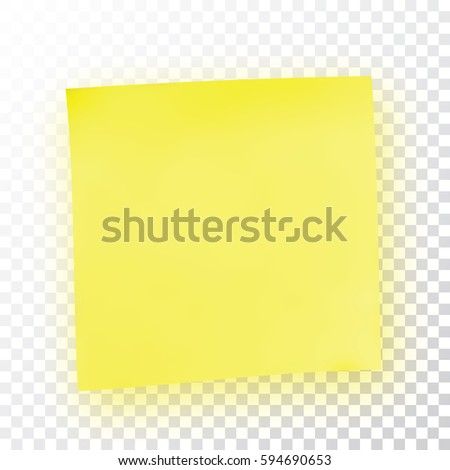 Yellow Sticky Note Template Your Projects Stock Vector 594690653 ...