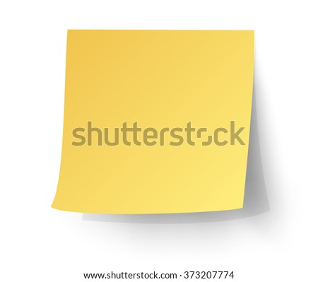 yellow sticky note,  vector illustration. - stock vector