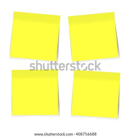 Yellow sticky notes. Vector EPS10 - stock vector