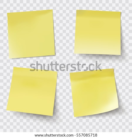vector sticky notes transparent shadows stock vector 132332003
