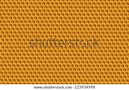 yellow structure honey hexagon shape - stock vector