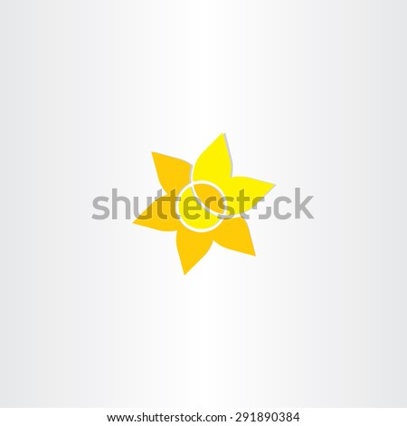 yellow sun flower icon design - stock vector