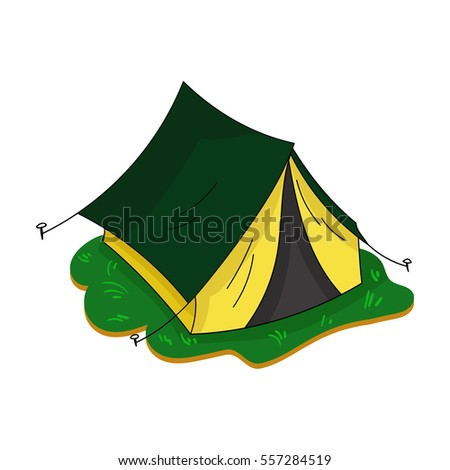 Yellow tent icon in cartoon style isolated on white background. Family holiday symbol stock vector  sc 1 st  Shutterstock : cartoon tent images - memphite.com