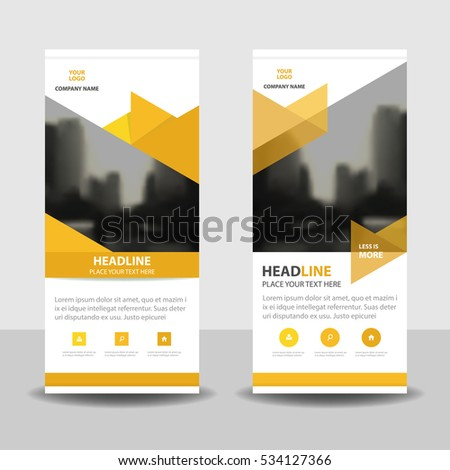 Yellow Triangle Business Roll Banner Flat Stock Vector 534127366 ...