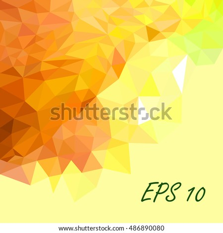 yellow triangles abstract background.