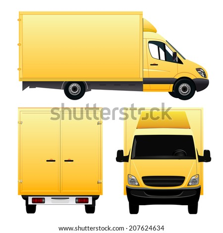 Yellow Truck - stock vector