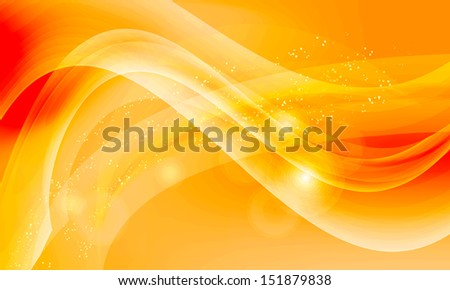 yellow vector abstract background - stock vector