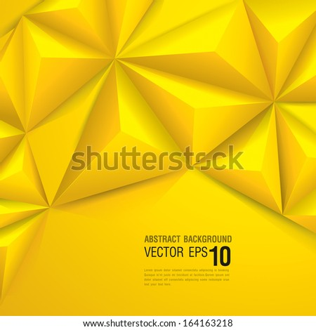 Yellow vector geometric background. Can be used in cover design, book design, website background, CD cover, advertising.  - stock vector