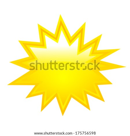 Yellow vector star - stock vector