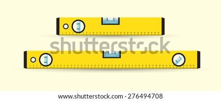 Yellow water levels, set of,  vector - stock vector