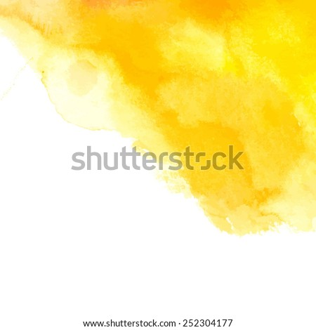 yellow watercolor abstract spot/ vector illustration