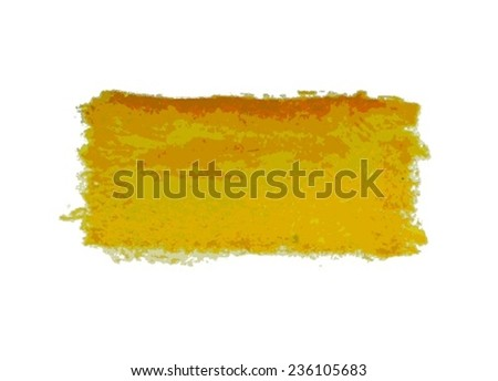 Yellow watercolor smear  brush strokes