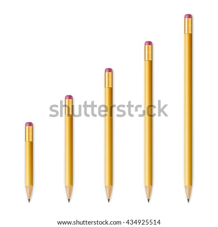 Yellow wooden sharp pencils