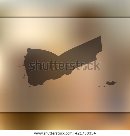 Yemen map on blurred background. Blurred background with silhouette of Yemen. Yemen. Yemen map. Blurred background. Silhouette of Yemen. Yemen vector map. Yemen. Blur background. Vector map. - stock vector