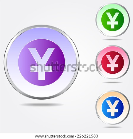 Yen Sign Icon Jpy Currency Symbol Stock Vector 226221580 Shutterstock