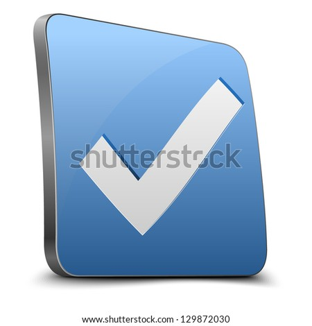 Yes button - stock vector