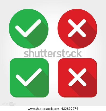 Yes or No icons - stock vector