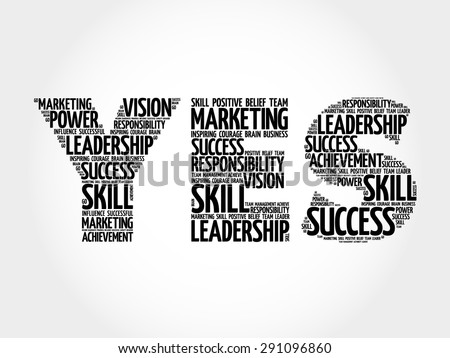 YES word cloud, business concept - stock vector