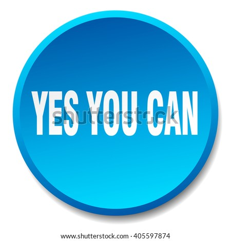 yes you can blue round flat isolated push button