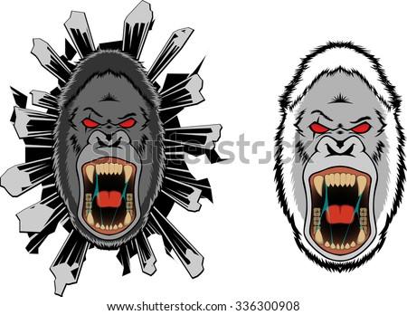Yeti bigfoot gorilla VECTOR sports logo mascot - stock vector
