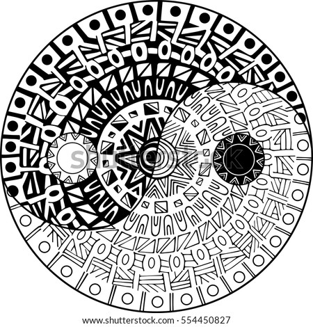 Ying yang stock images royalty free images vectors for Ying yang coloring pages