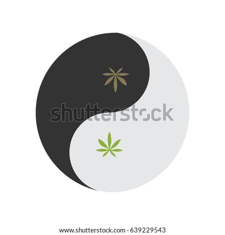Yin Yang Symbol Known Taijitu Symbol Stock Vector 639229543