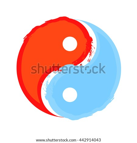 yin yang water fire concept stock vector 442914043 shutterstock rh shutterstock com Cool Yin Yang Yin Yang Symbol Meaning