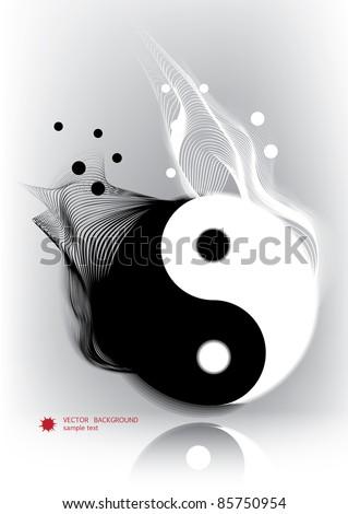 Yin yan symbol - stock vector