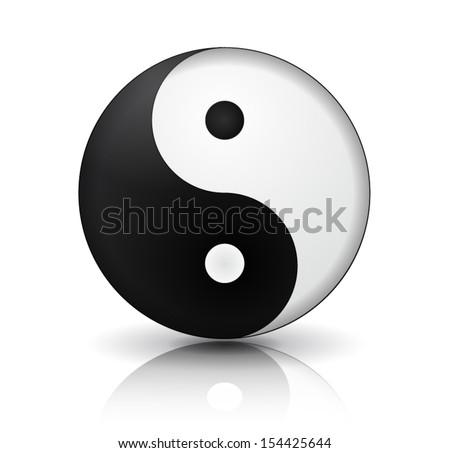 Yin Yang icon - stock vector