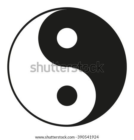 Yin Yang icon isolated on a white background, stylish vector illustration for web design - stock vector