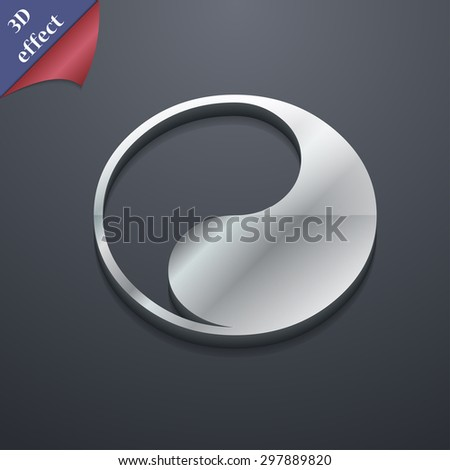Yin Yang icon symbol. 3D style. Trendy, modern design with space for your text Vector illustration - stock vector