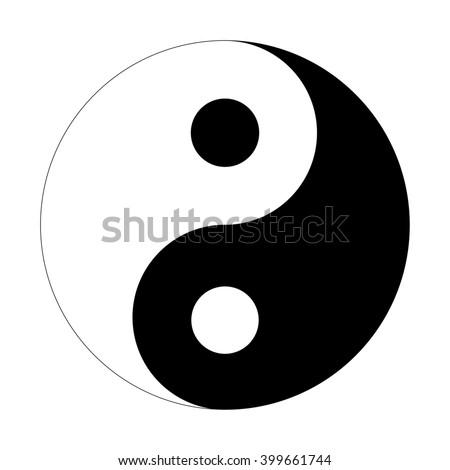 Yin Yang sign icon - stock vector