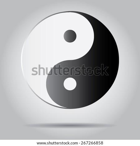 Yin Yang Symbol. - stock vector