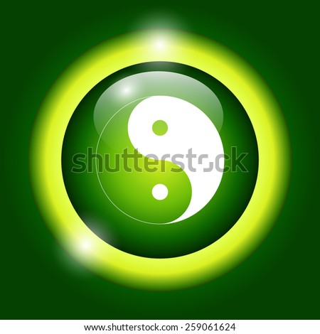 Yin Yang Symbol - Black and White Vector Illustration