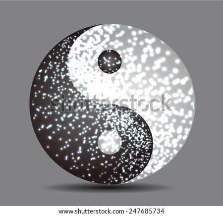 Yin Yang, symbol of harmony and balance - stock vector