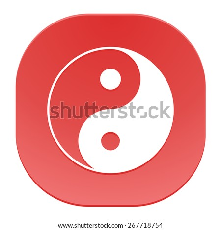 Yin yang symbol of harmony and balance. - stock vector