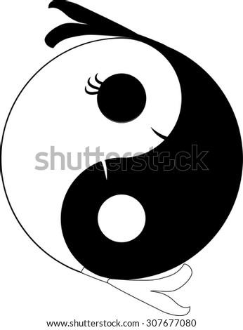 Yin Yang Symbol Harmony Balance Chinese Stock Vector 2018