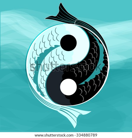 Yin yang symbol harmony balance koi stock vector 334880789 for Yin and yang koi fish