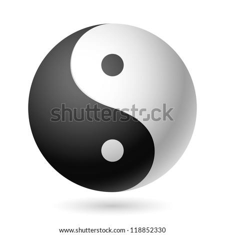 Yin Yang symbol. Vector. - stock vector