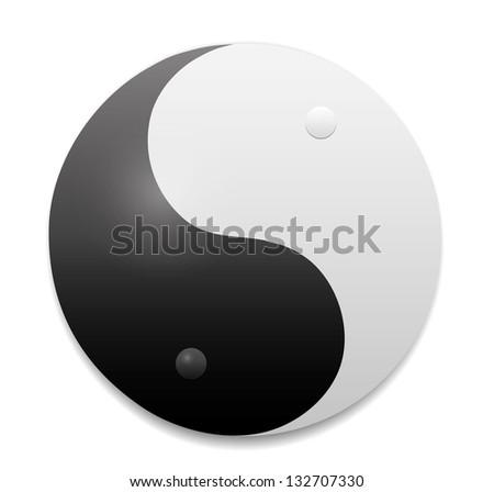 Yin-Yang symbol. Vector - stock vector