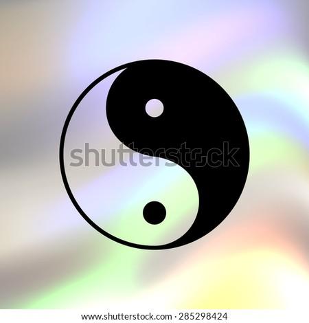 yin yang symbol - vector icon - stock vector