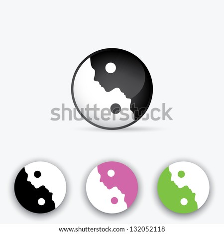 Yin Yang symbol - vector illustration - stock vector