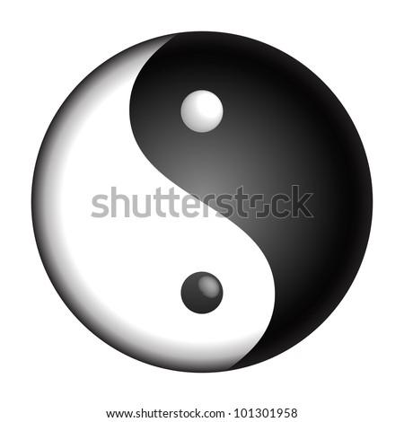Yin Yang vector symbol - stock vector