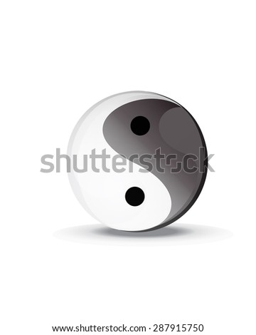 yin yang ying yang symbol vector icon - stock vector
