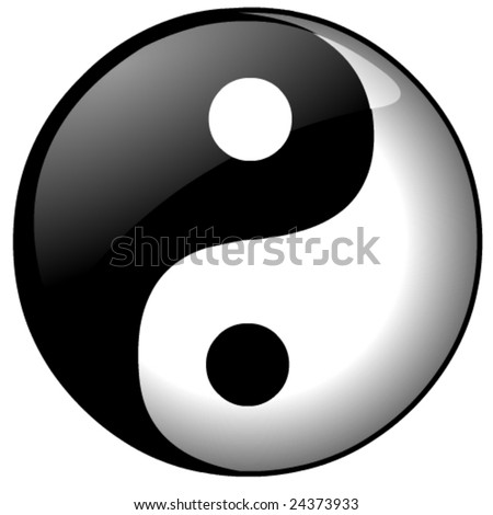 Ying or Yang vector file - stock vector