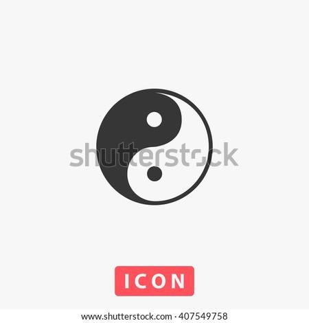 Ying yang Icon - stock vector