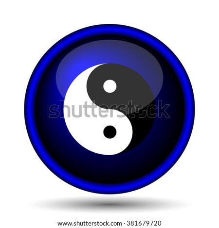 Ying yang icon. Internet button on white background. EPS10 vector