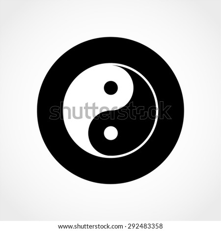 Ying yang symbol Isolated on White Background - stock vector