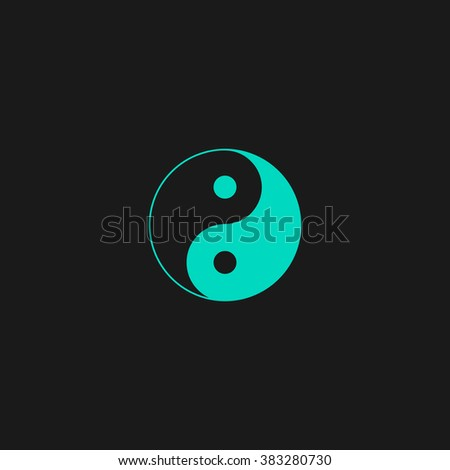 Ying yang symbol of harmony and balance. Flat simple modern illustration pictogram. Collection concept symbol for infographic project and logo - stock vector