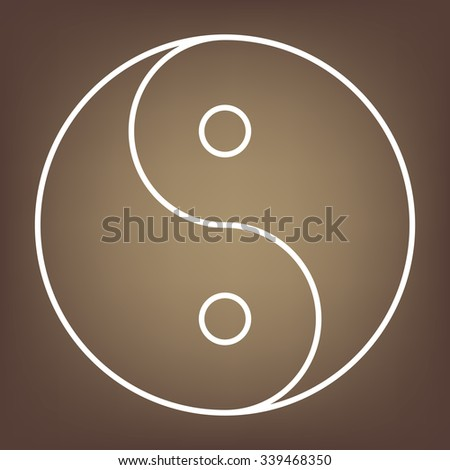 Ying yang symbol of harmony and balance. line  icon - stock vector